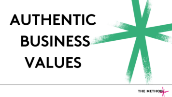 How to create authentic business values
